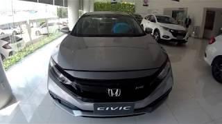 2019 ฮอนด้า ซีวิค RS สีเทา 1500 turbo ท็อปสุด 1,219,000 บาท คู่แข่งแอคคอร์ด gen10 ศูนย์ United Honda