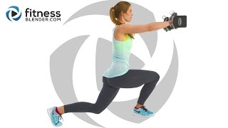 Total Body Strength Training With Dumbbells - Challenging Dynamic Superset Workout