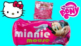 Minnie Mouse Toy Surprises in Pink Bag with Hello Kitty Blind Bag Paciocchini My Little Pony