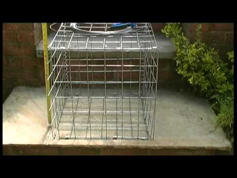 How to assemble a gabion basket YouTube