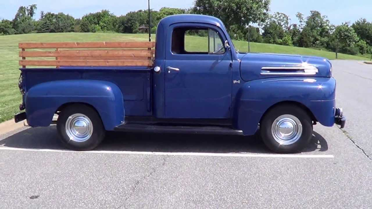 1950 ford f1 pickup short bed sold youtube. Black Bedroom Furniture Sets. Home Design Ideas