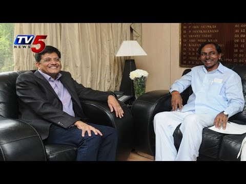 KCR Meets Central Minister Piyush Goyal   Discussed On Power Issues : TV5 News