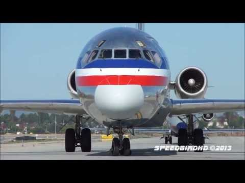 American Airlines McDonnell Douglas MD-83 [N567AM] Landing and CLOSE UP Taxi