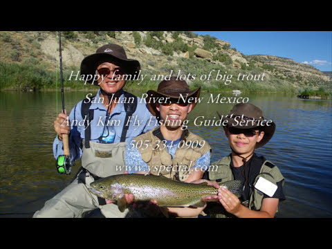 25 inch trophy rainbow trout San Juan River fly fishing 2010 Fuji HS 10