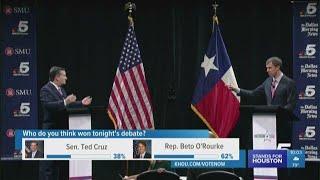 Cruz, O'Rourke debate in Dallas