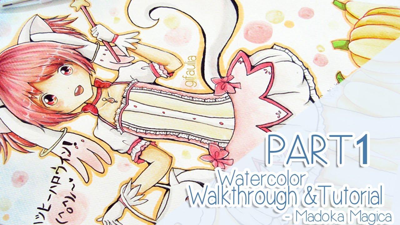 Tutorial Watercolor Anime Anime Watercolor Tutorial