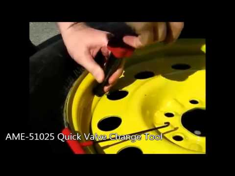 how to change tire valve