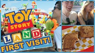 Toy Story Land First Visit  -  Disney World Vlog | Tom Burns & Jamie Jo