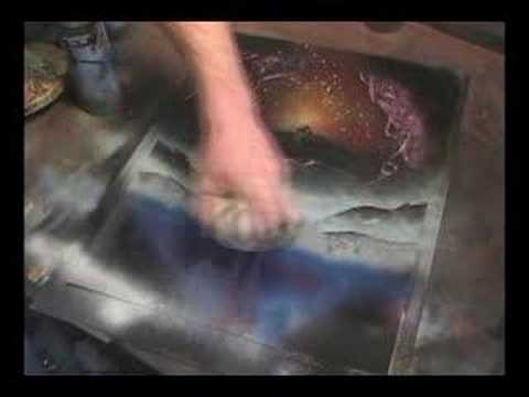 Spray paint sci fi art