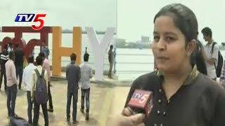 కొత్త రంగుల్లో లవ్ హైదరాబాద్..! | Love Hyderabad Symbol Attracts Tourists At Tank Bund