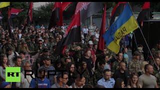 Ukrainian nationalists stage massive march, demand end of ceasefire in E. Ukraine