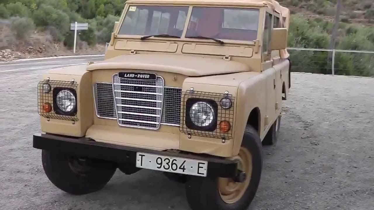 Squishy Mushy Series 3 : Land Rover 109 Series 3 III Military Replica Soft Top, 2 and a Quarter Diesel Overdrive - YouTube