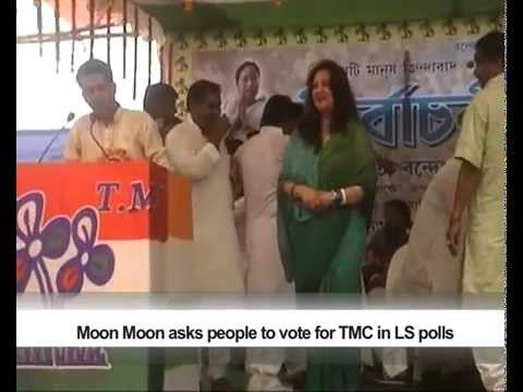 Moon Moon asks people to vote for TMC in LS polls