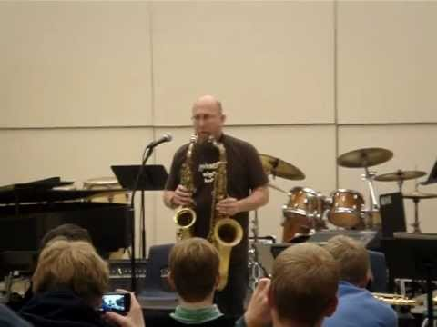 Jeff Coffin - 2 Saxophone At Marquette University High School