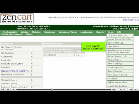0 Edit the margins in ZenCart by VodaHost web hosting