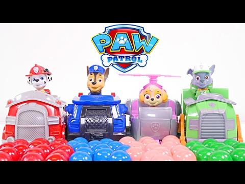 Mejores Videos para Niños Aprendiendo Colores - Patrulla de Cachorros y Bolas de Chicle Colores