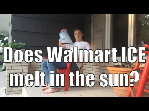 Proof that even Walmart ICE Doesn't Melt in the Sun