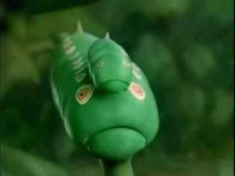 Thumb Tea Ad with Hypnotic Caterpillars
