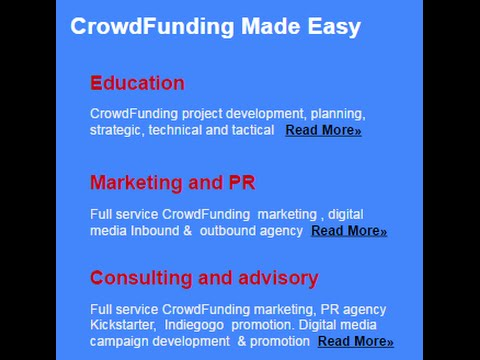 CrowdFunding website landing page Boost Your Kickstarter Indiegogo Campaign Traffic