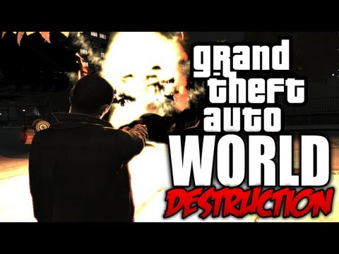 GTA 4: World Destruction! - (Tsunami Mod + Carmageddon Mod COMBINED!)