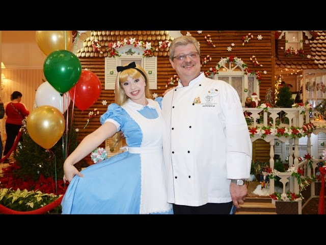 Disney's Grand Floridian Gingerbread House Grand Opening Ceremony 2014 with Alice