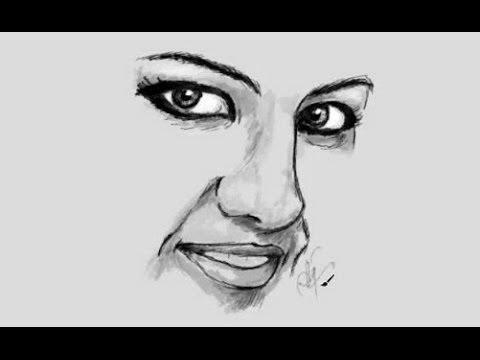 Beautiful Woman Cartoon Face a Beautiful Woman's Face