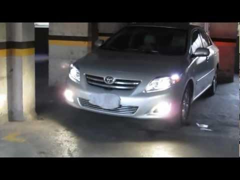 Xenon 6000k baixo e 4300k neblina Corolla com farol projetor