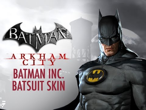 Batman Arkham City - Free Batman Inc. Batsuit DLC Costume Skin Available Now