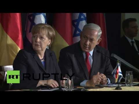 Israel: Merkel shares laughs with Netanyahu