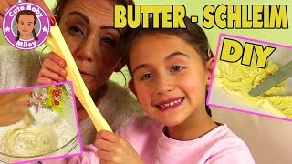 DIY BUTTERSCHLEIM SLIME selber machen - Experiment | CuteBabyMiley
