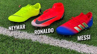 MESSI vs RONALDO vs NEYMAR Battle - Superfly 6 vs Vapor 12 vs Nemeziz (2019)