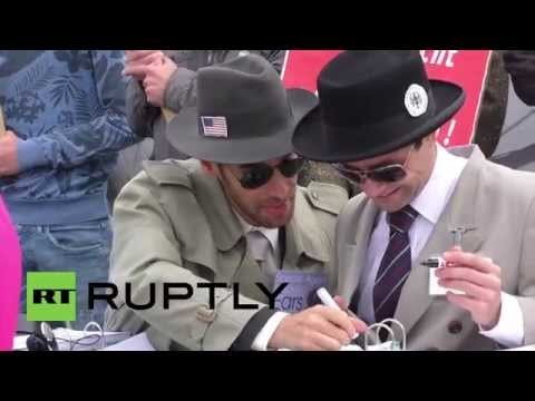 Germany: Watch NSA and BND secret agents in action outside Bundestag
