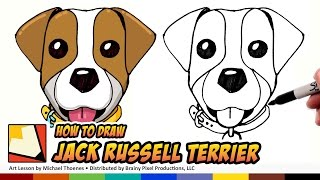 How to Draw Jack Russell Terrier Emoji - How to Draw Cute Dogs Step by Step for Beginners