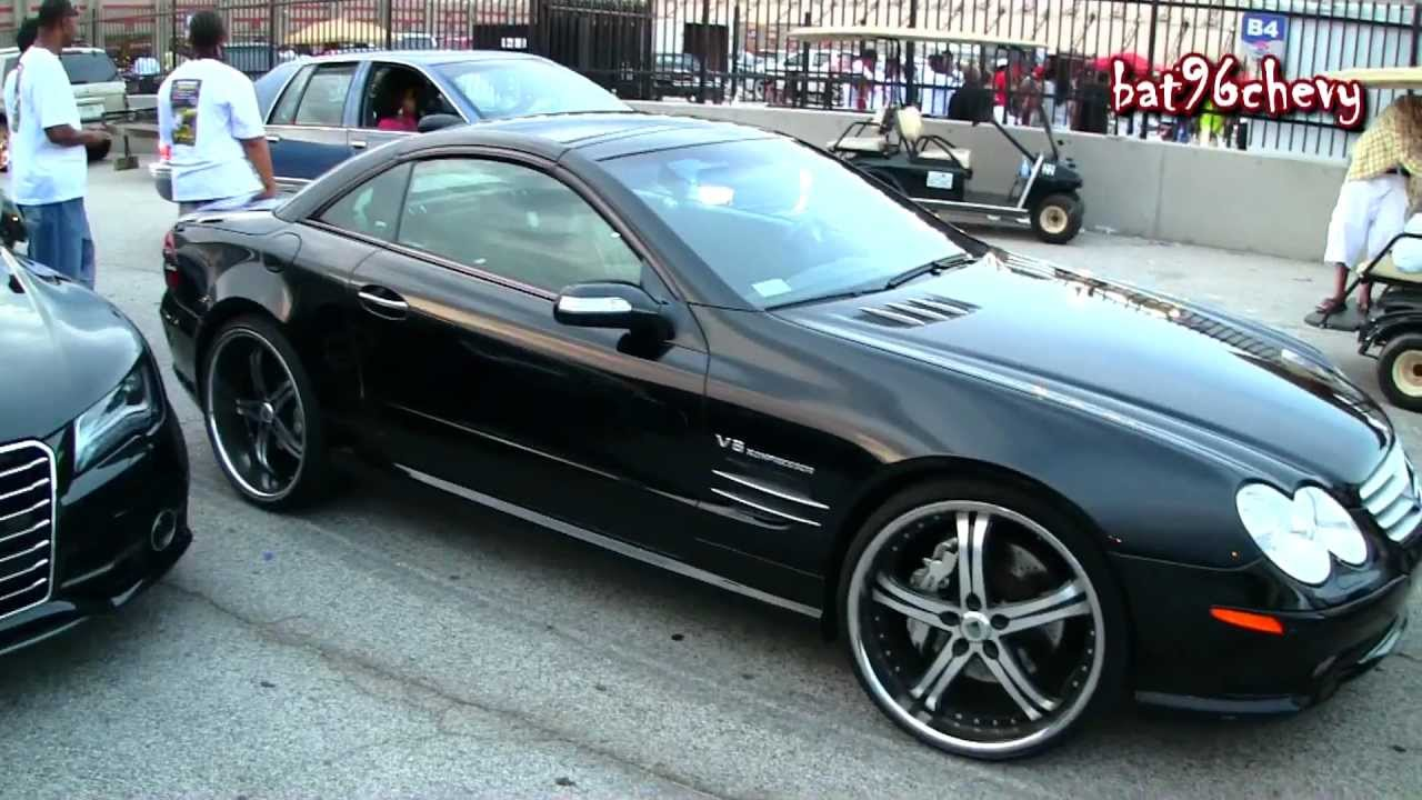 "Gucci Benz >> Mercedes Benz SL55 on 22"" Staggered Asantis - 1080p HD ..."