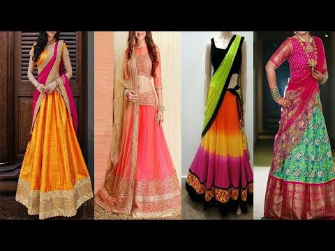 Latest Designer  Half Sarees ||  Designer Lehenga  || Party Wear Half Saree || The Fashion Zone