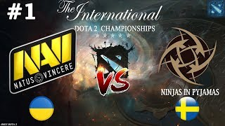 КАК ЖЕ ОНИ ДУШАТ! | Na`Vi vs NIP #1 (BO2) The International 2019