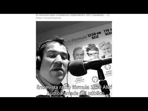 Aspirante independiente SPGG Jorge González en Radio Fórmula Monterrey