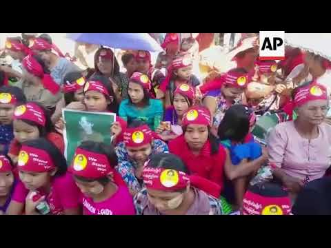 Thousands join rally to support Suu Kyi