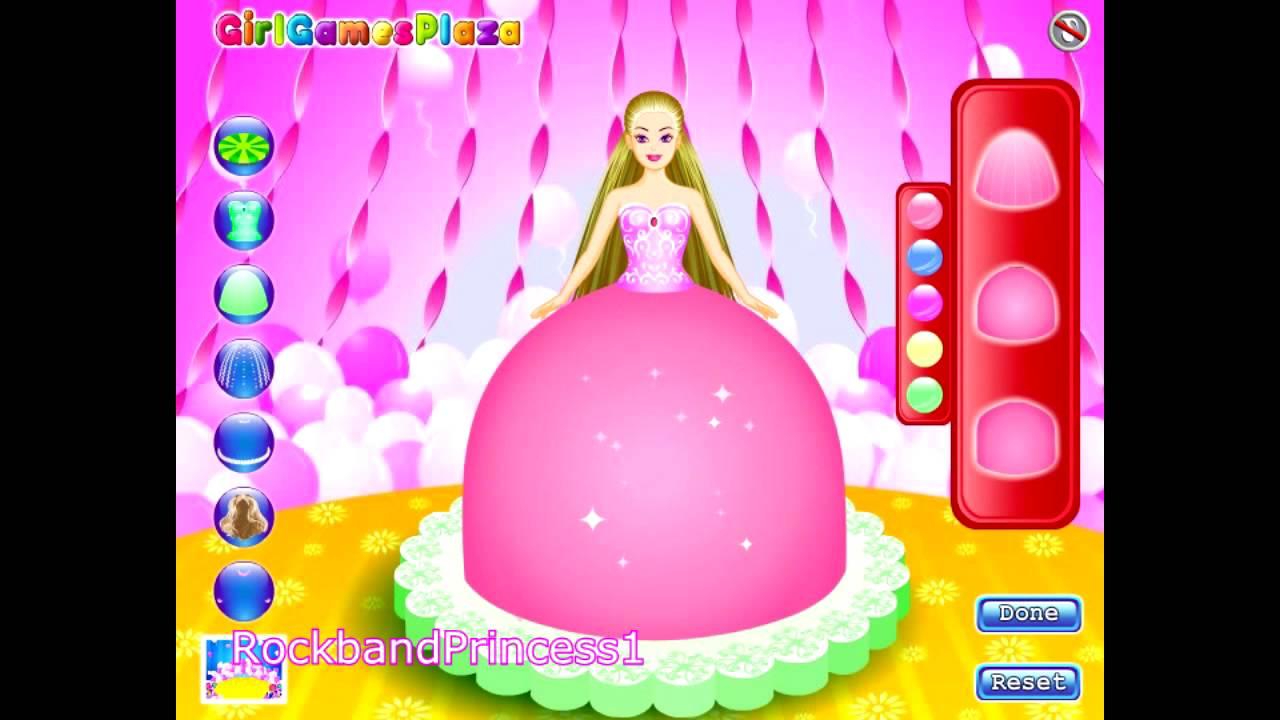 Barbie cake game barbie cake decorating games youtube for All decoration games