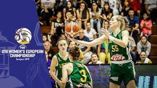 Bosnia and Herzegovina v Lithuania - Full Game - FIBA U18 Women's European Championship 2019