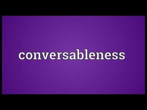 Header of conversableness