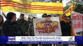 PHÓNG SỰ CỘNG ĐỒNG: Biểu tình phản đối luật đặc khu & an ninh mạng tại Canberra, Úc