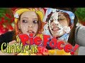 Playing Festive Pie Face Showdown Challenge Game / Pie Face Showdown with Christmas Food | NiliPOD