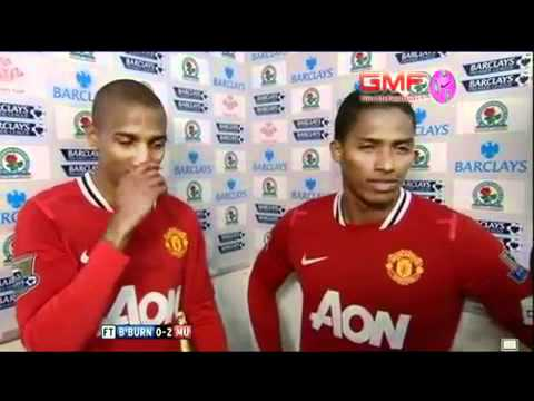 Ashley Young & Antonio Valencia Interview - Blackburn Rovers 0-2 Manchester United
