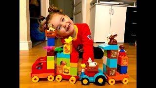 KID PLAYING WITH TOYS LEGO DUPLO TRAIN, TEYA TV