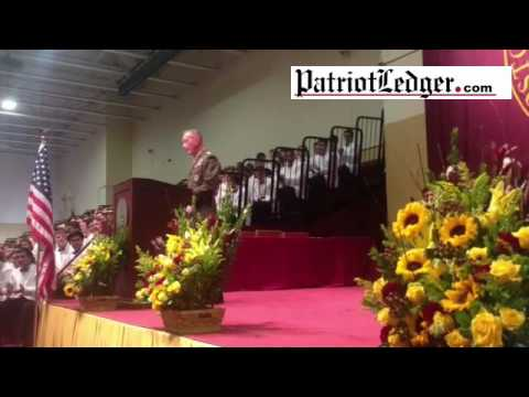 General Joseph Dunford, Jr., delivers the commencement address to BC High's Class of 2016