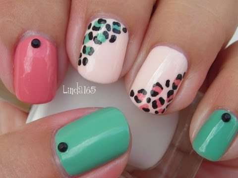Nail Art - Easy and Girly Leopard Nails