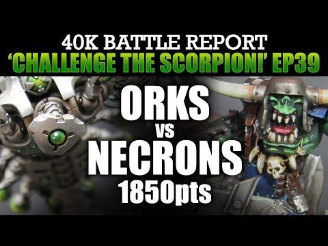 Orks vs Necrons WH40K BatRep CTS39: BRIDGE OF DEATH! 1850pts | HD