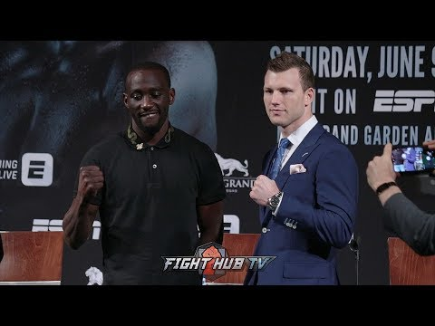 JEFF HORN VS TERENCE CRAWFORD - THE FULL FINAL PRESS CONFERENCE & FACE OFF VIDEO