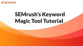 Download lagu SEMrush Keyword Magic Tool Tutorial